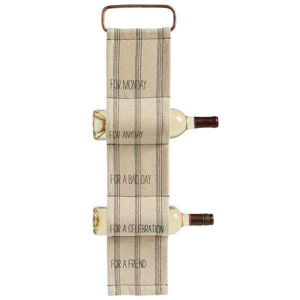 For Any Day Hanging Woven Wine Rack - CityBarnCountryPenthouse