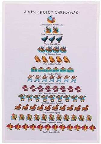 A New Jersey Christmas Dish Towel - CityBarnCountryPenthouse