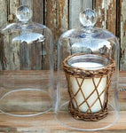 "CANDLE COVER BELL JAR 6""X9"" - CityBarnCountryPenthouse"