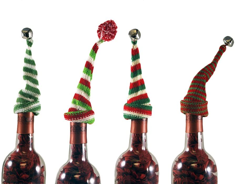 Knit Hat Bottle Topper - CityBarnCountryPenthouse