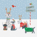 Luncheon Holiday Puppies Napkins - 20 pk - CityBarnCountryPenthouse