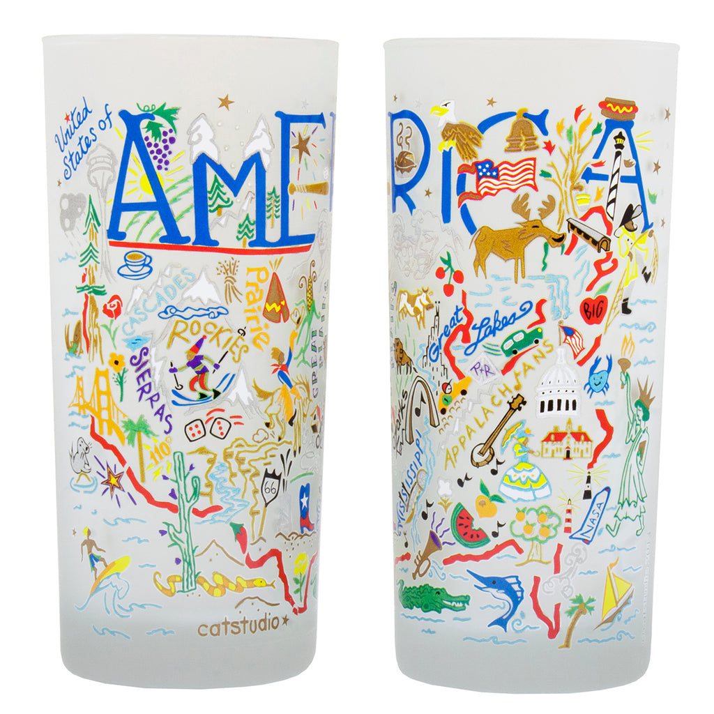 America Drinking Glasses - Set Of 4 - CityBarnCountryPenthouse
