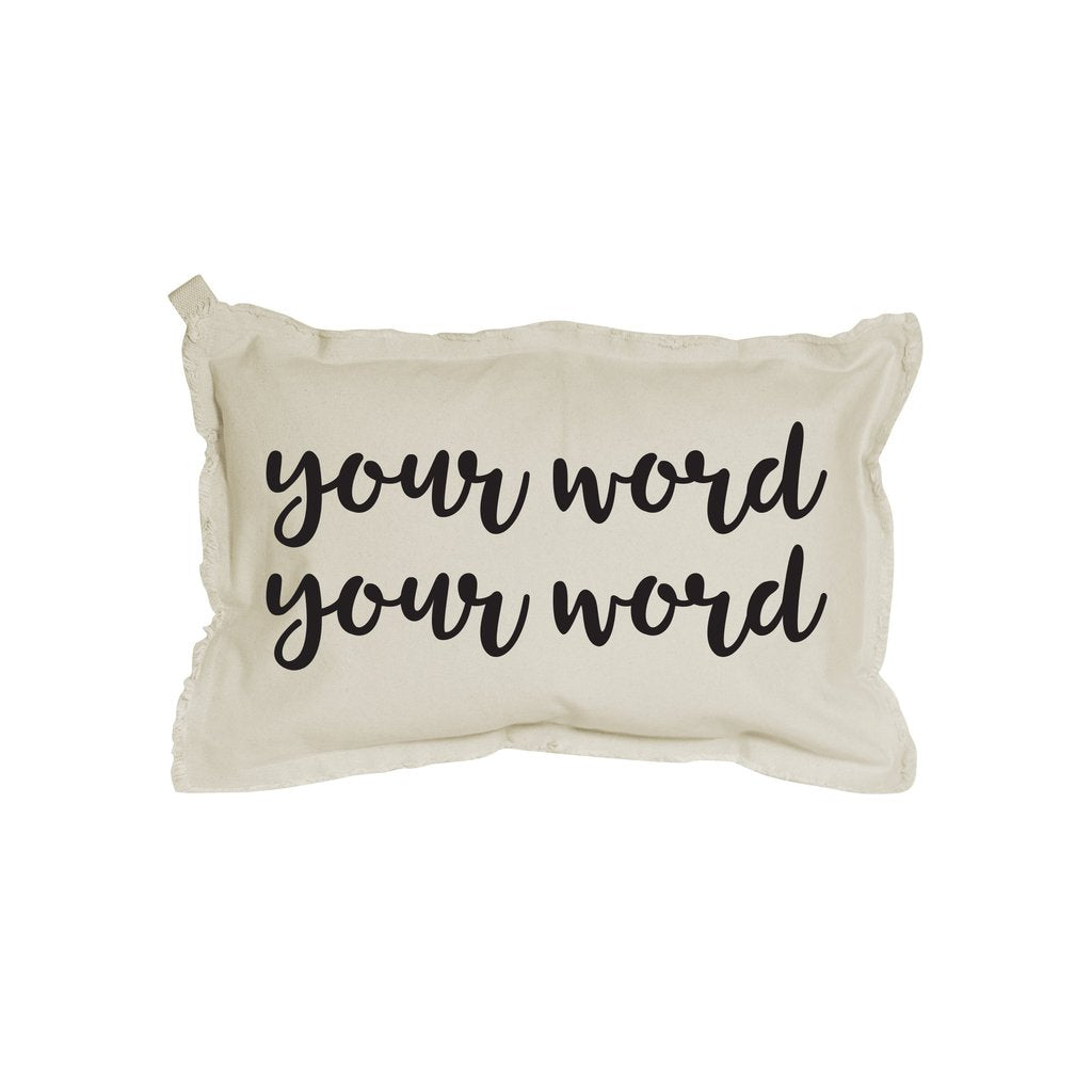 Your Two Words Rectangle Pillow - 12x18