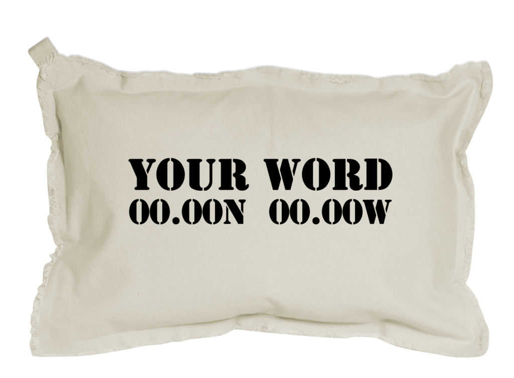 YOUR WORD + COORDINATES RECTANGLE PILLOW - 12x18
