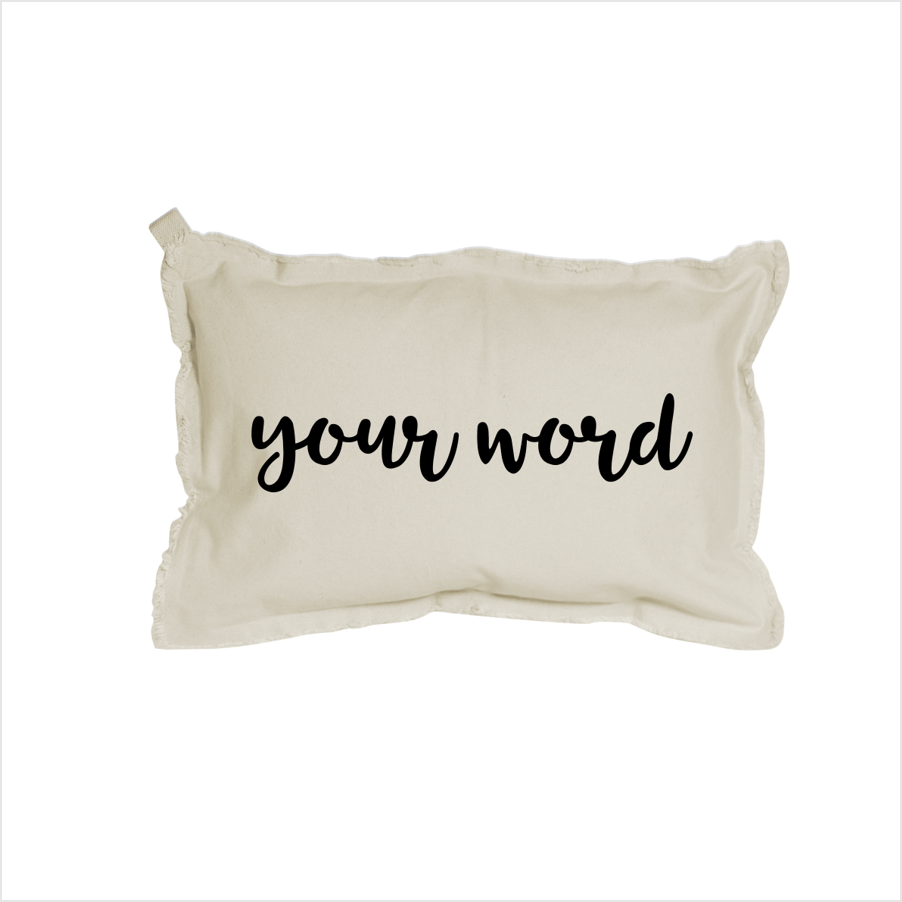 Your Word Rectangle Pillow - 12x18