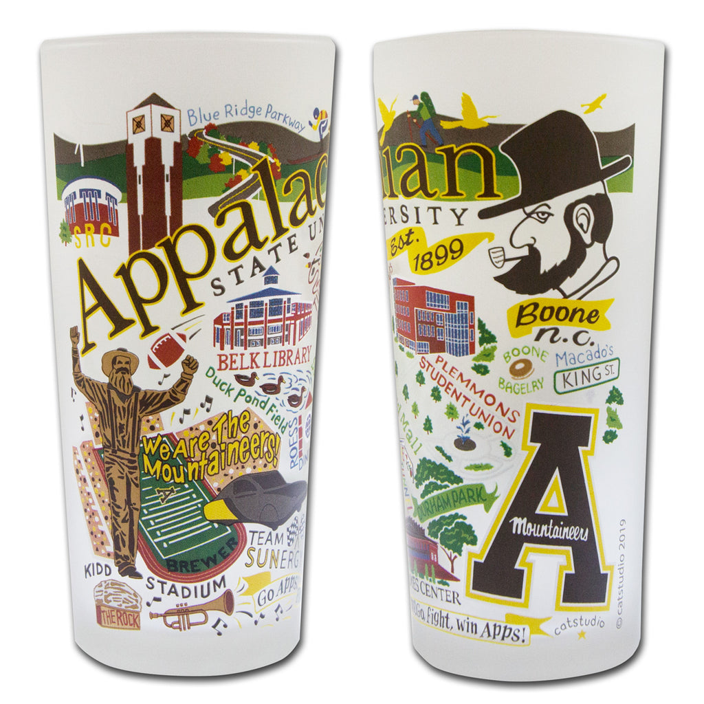 Appalachian State University Drinking Glasses - Set of 4