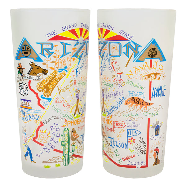 Arizona Drinking Glasses - Set Of 4 - CityBarnCountryPenthouse