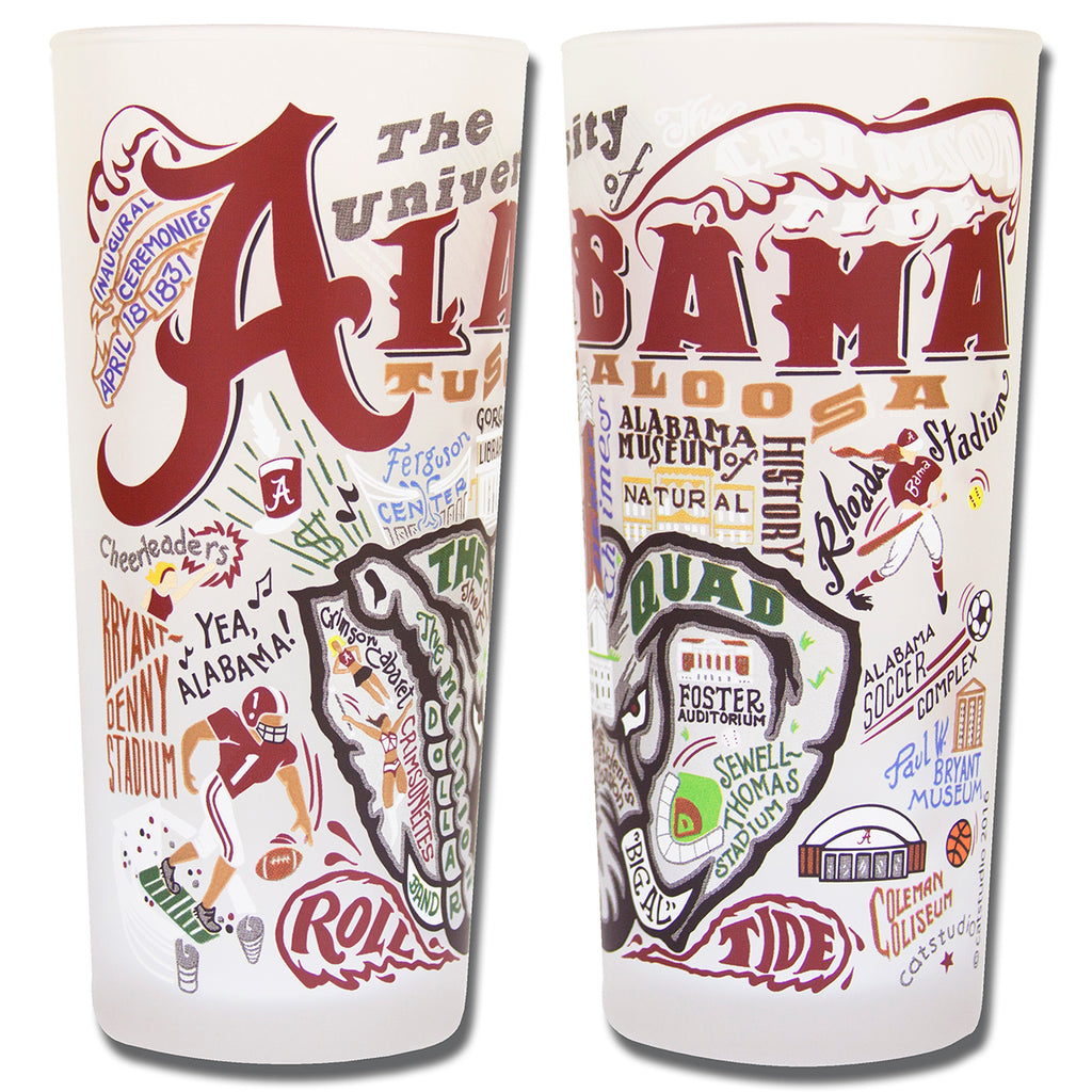 University of Alabama Drinking Glasses - Set of 4