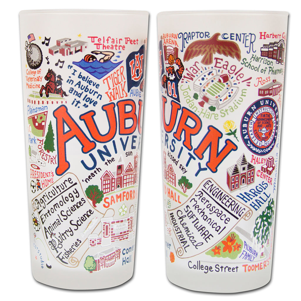 Auburn University Drinking Glasses - Set Of 4 - CityBarnCountryPenthouse