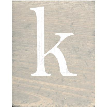 RUSTIC BLOCK LOWERCASE K - CityBarnCountryPenthouse