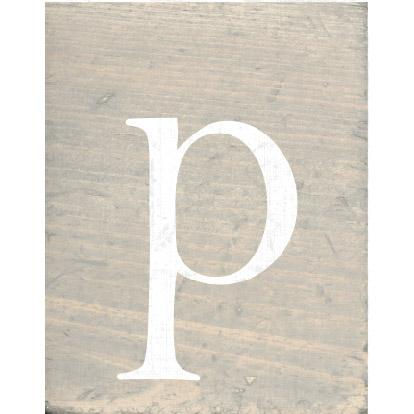 RUSTIC BLOCK LOWERCASE P - CityBarnCountryPenthouse