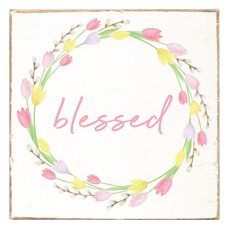 BLESSED WREATH SQUARE BLOCK - CityBarnCountryPenthouse