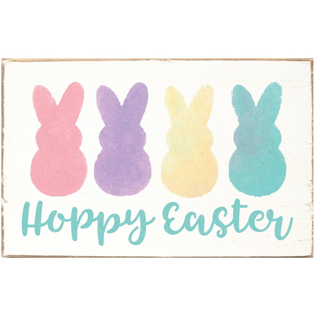 HOPPY EASTER XL RUSTIC BLOCK - CityBarnCountryPenthouse