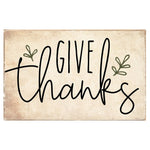 Give Thanks Rustic XL Block - CityBarnCountryPenthouse