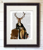 Illustrious Deer, Book Print - CityBarnCountryPenthouse