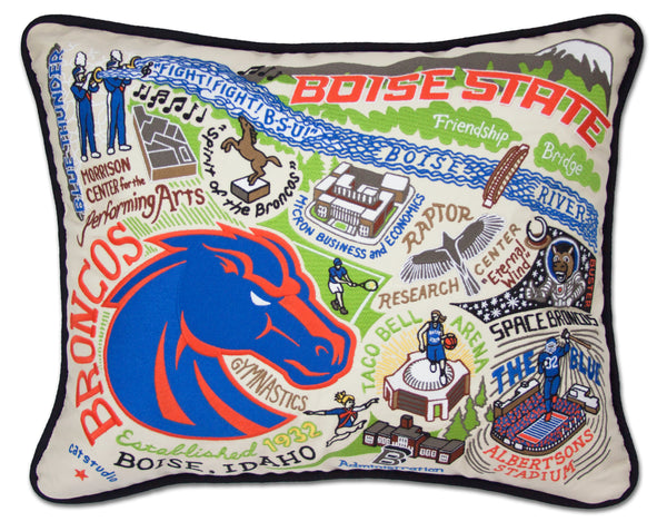 Boise State University Pillow - CityBarnCountryPenthouse