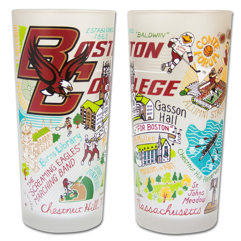 Boston College Drinking Glasses - Set Of 4 - CityBarnCountryPenthouse