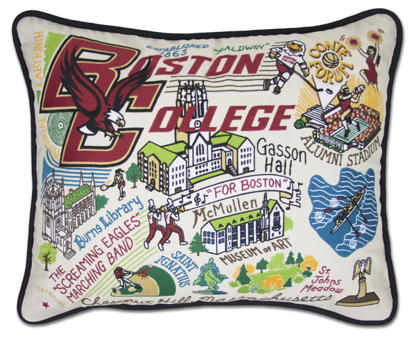 Boston College Pillow - CityBarnCountryPenthouse