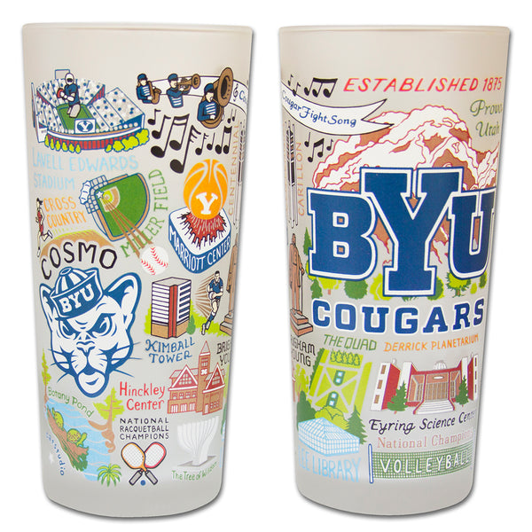 Brigham Young University (Byu) Drinking Glasses - Set Of 4 - CityBarnCountryPenthouse