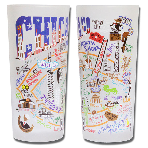Chicago Drinking Glasses - Set Of 4 - CityBarnCountryPenthouse