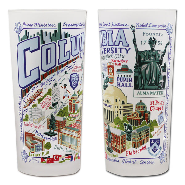 Columbia University Drinking Glasses - Set Of 4 - CityBarnCountryPenthouse