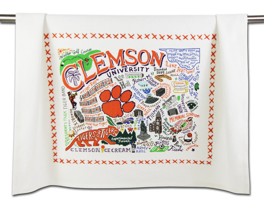 Clemson University Dish Towel - CityBarnCountryPenthouse