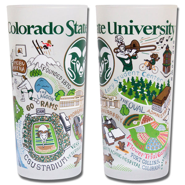 Colorado State University Drinking Glasses - Set Of 4 - CityBarnCountryPenthouse