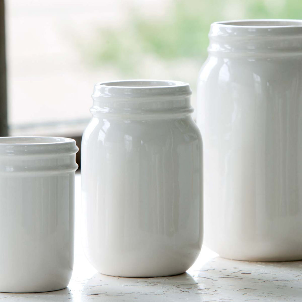 Creamware Pint Jar - City Barn | Country Penthouse