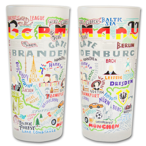 Germany Drinking Glasses - Set Of 2 - CityBarnCountryPenthouse