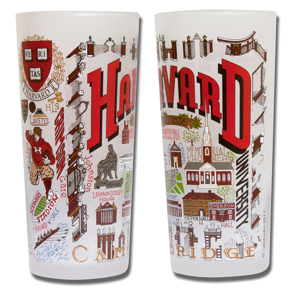 Harvard University Drinking Glasses - Set Of 4 - CityBarnCountryPenthouse