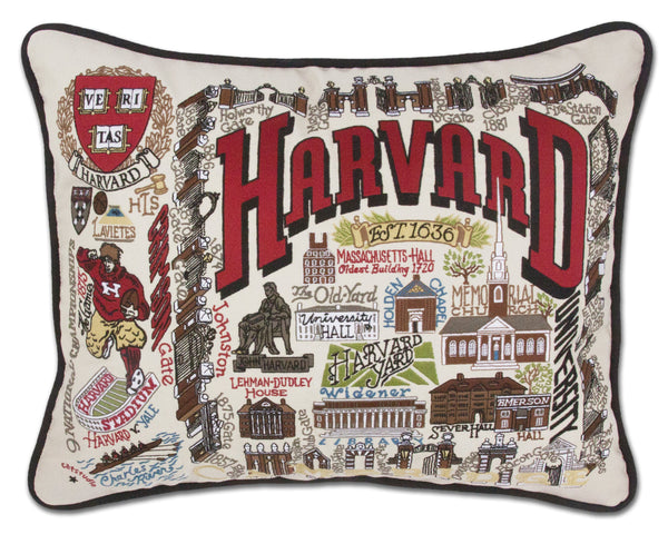 Harvard University Pillow - CityBarnCountryPenthouse