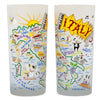 Italy Drinking Glasses - Set Of 4 - CityBarnCountryPenthouse