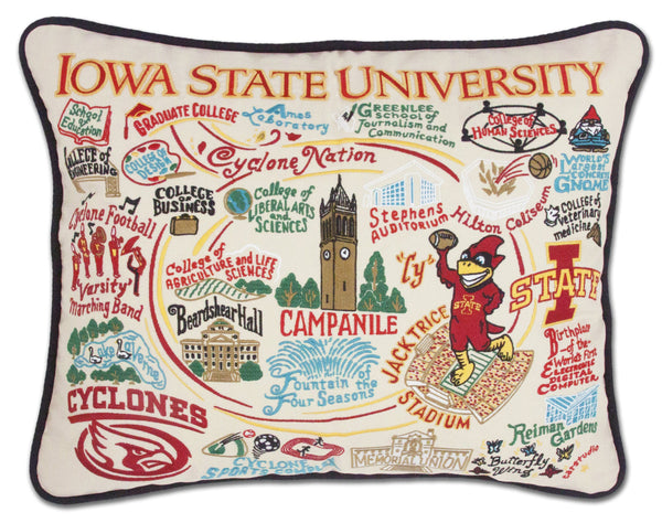 IOWA STATE UNIVERSITY PILLOW --- Low Stock! - CityBarnCountryPenthouse