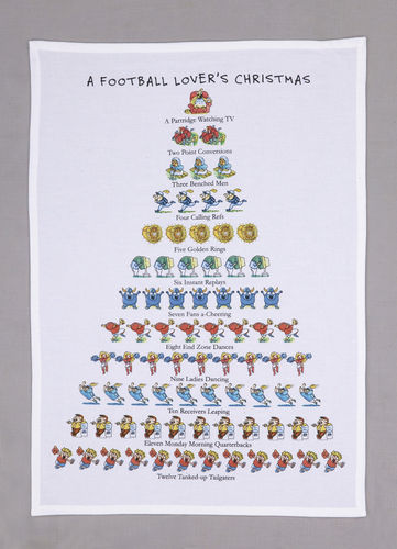 A Football Lover's Christmas Dish Towel - CityBarnCountryPenthouse