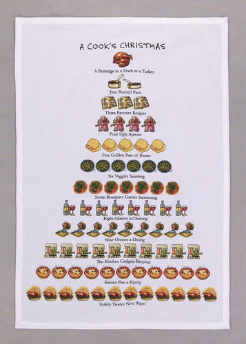 A Cook's Christmas Dish Towel - CityBarnCountryPenthouse