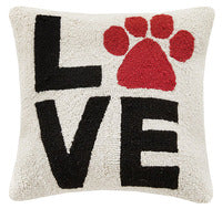 LOVE PAW PRINT HOOK PILLOW - CityBarnCountryPenthouse