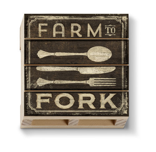 Farm To Fork Pallet Coaster - CityBarnCountryPenthouse