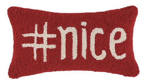 Hashtag Nice Hook Pillow - CityBarnCountryPenthouse