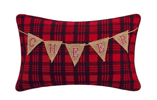 Cheer Garland Emb Pillow - CityBarnCountryPenthouse