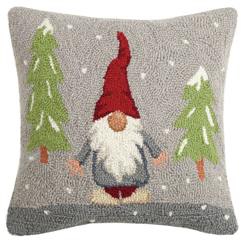 Snowy Gnome Hook Pillow - CityBarnCountryPenthouse