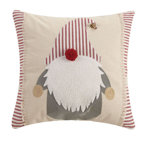Gnome Hat with Bell Emb Pillow - CityBarnCountryPenthouse