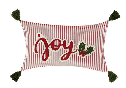 Joy with Tassels Emb Pillow - CityBarnCountryPenthouse