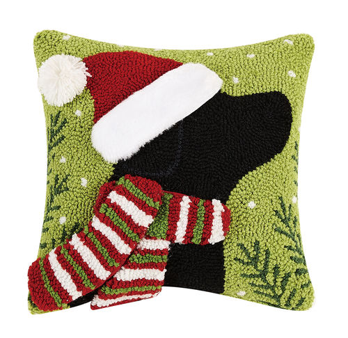 3D Christmas Lab Hook Pillow - CityBarnCountryPenthouse