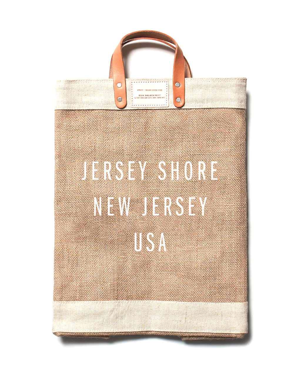 Jute Market Bag - Jersey Shore - CityBarnCountryPenthouse