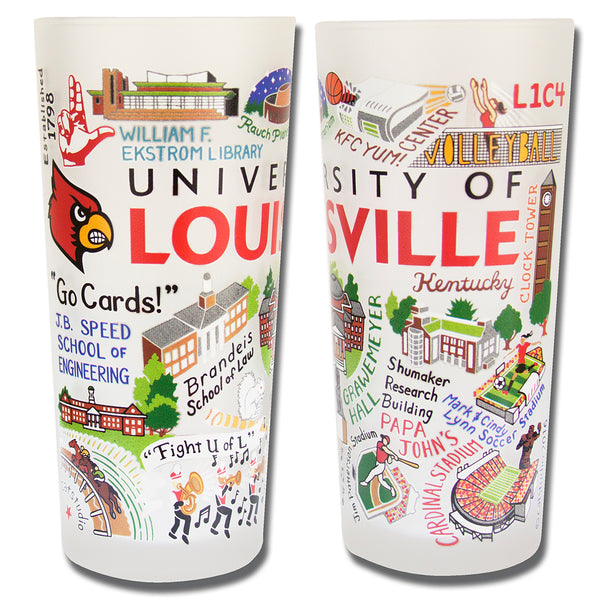 University Of Louisville Drinking Glasses - Set Of 4 - CityBarnCountryPenthouse