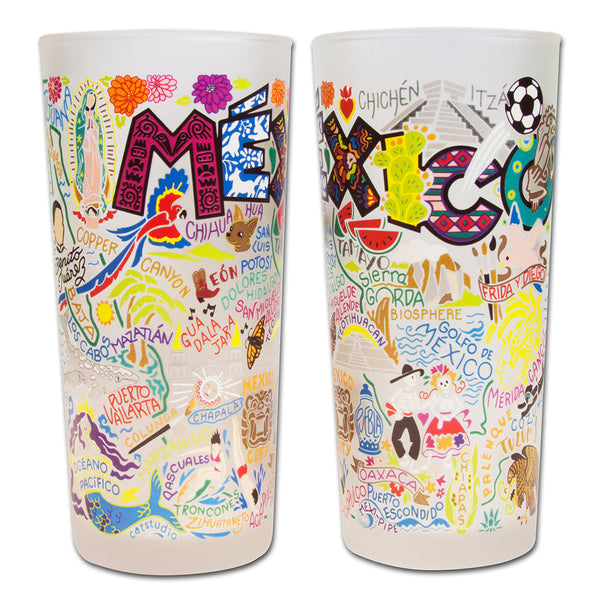 Mexico Drinking Glasses - Set Of 4 - CityBarnCountryPenthouse