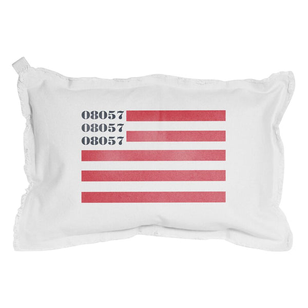 Zip Code Flag Pillow - Personalize it! - CityBarnCountryPenthouse