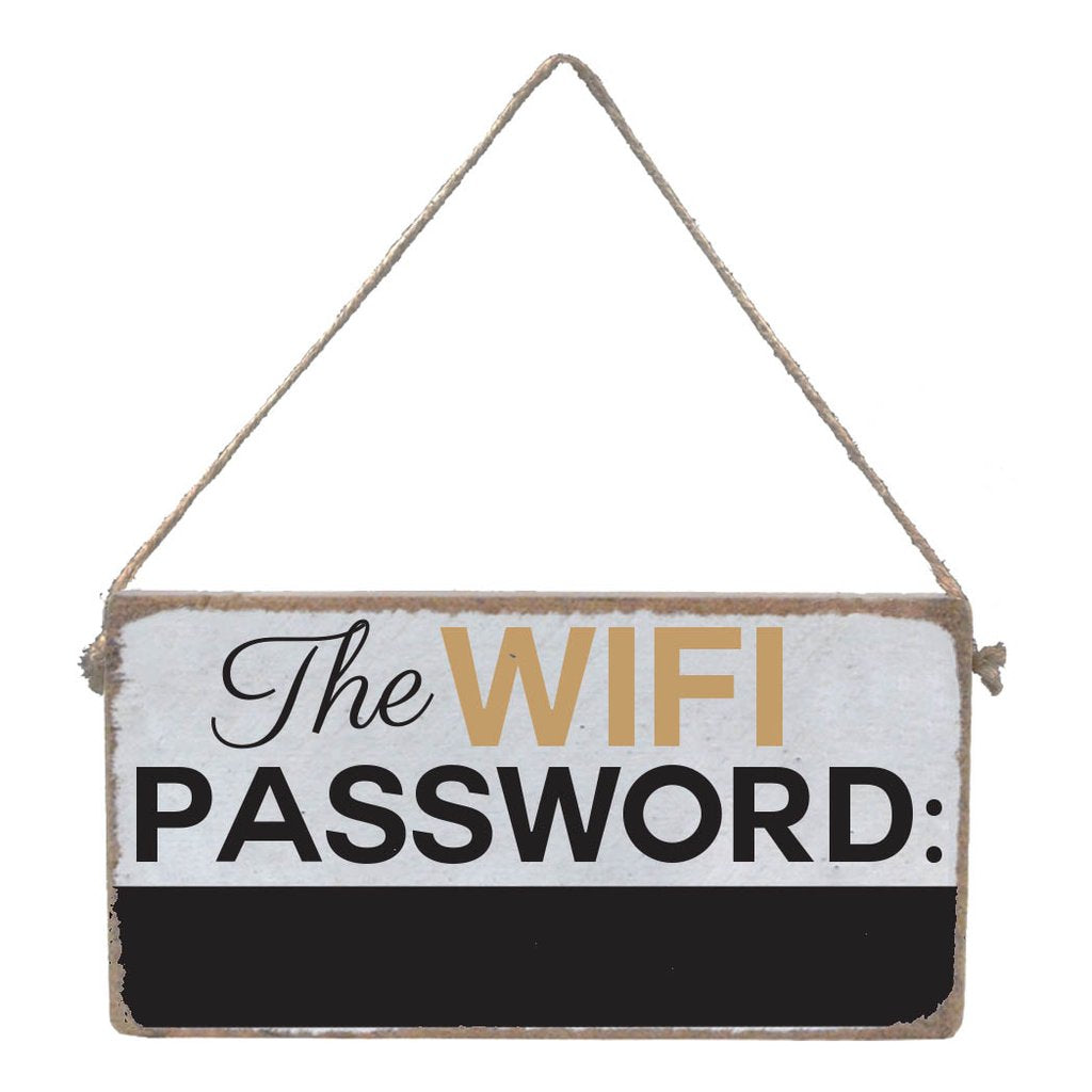 WIFI PASSWORD CHALKBOARD MINI PLANK - CityBarnCountryPenthouse