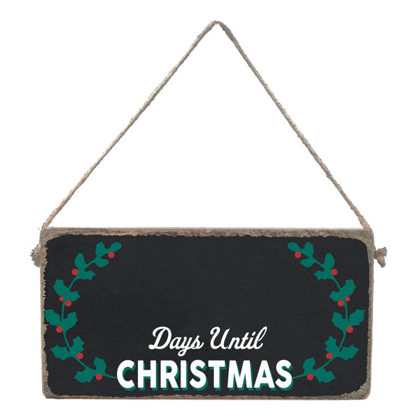 DAYS UNTIL XMAS CHALKBOARD MINI PLANK - CityBarnCountryPenthouse