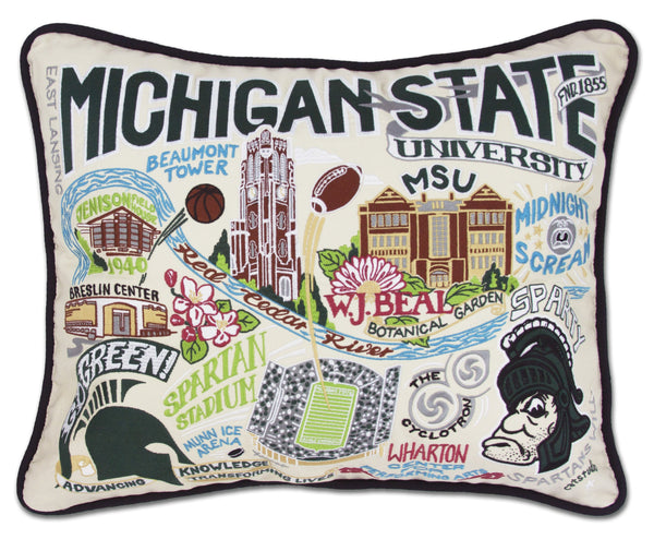 Michigan State University Pillow - CityBarnCountryPenthouse